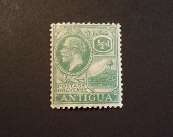 Antigua Postage Stamp* Scott# 42, 1/2p.* 1921-29 KGV ST.Johns Harbor Issue* Unused/Hinged