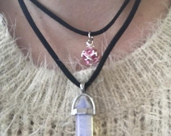 Opalite and Crystal Necklace