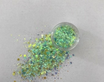 Aqua-Marine Face Glitter
