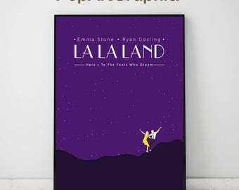 "LA LA LAND Musical Romantic Movie Print Poster , Ryan Gosling , Emma Stone (11""x17"")"