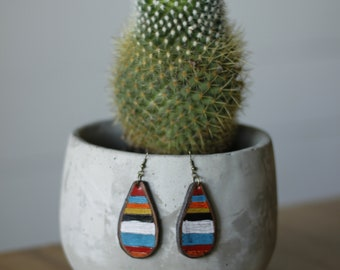 Serape Collection Natalie Earrings | Leather Earrings | Birthday Gift | Anniversary | Gifts under 25 | Handmade | Gifts for Her