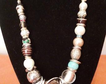 Cloisonne, Vintage and Ceramic necklace