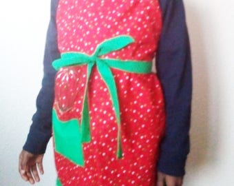 Kids apron, Child's apron, Valentine apron for kids, Adjustable apron with pleats, Kids valentine