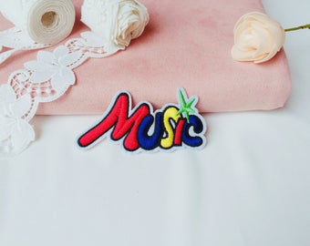 colorful MUSIC patch/Word patch/iron on patch/sew on patch/patch for jacket