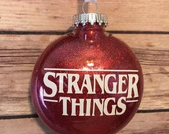 Stranger Things Glitter Ornament