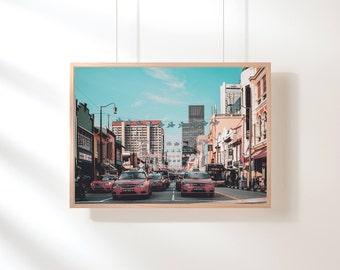 Pink Wall Art, City Wall Art Urban Photography, Pink Digital Print, Pink Printable Wall Art, Digital Download, City Urban Pink Printable Art