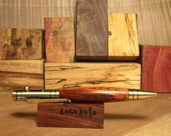 Pen - Bolt Action - Antique Brass/Cocobolo