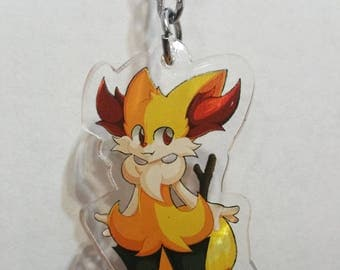 Pokemon - Braixen {Clear Acrylic Charm}