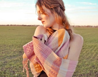 Handwoven scarf/wrap