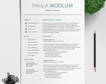 modern resume template for word 1 3 page resume cover letter reference - Reference Page Resume Template