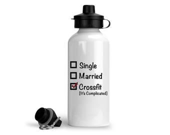 Crossfit Sports Bottle, Crossfit Gift, Crossfit Bottle, Crossfit Water Bottle, Crossfit Funny Gifts, Fitness Water Bottle, Fitness Bottle