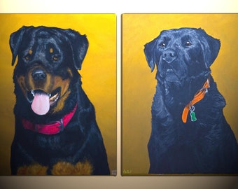 custom pet portraits, pet paintings