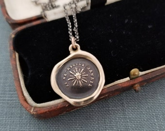 Sample sale - Sun Wax Seal Pendant in Bronze - One of a kind / Limited Edition