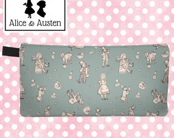 Mad Hatter's Tea Party pencil case - zipper pouch