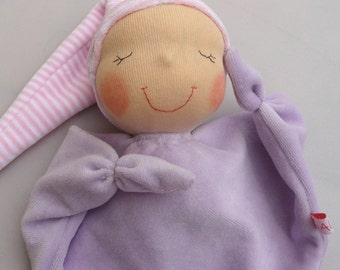 Waldorf first doll- DEPOSIT, custom Waldorf doll, 1st birthday gift, soft toys, knot doll, new baby gift, soft toy,  blankie, snuggie,