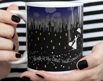 Mary Poppins - Winds in the East   11oz. or 15oz. Mug   Full Wrapped Design