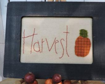 Instant Download Harvest 4x6 Stitchery Pattern