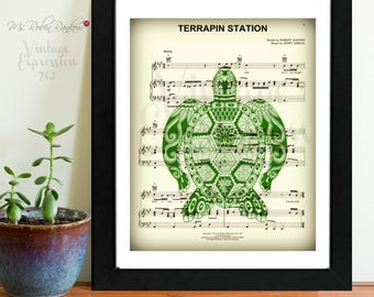 Grateful Dead, Terrapin Station, Song Music Sheet, Print, Art