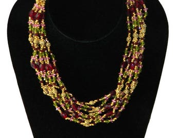 Vintage Multistrand Miriam Haskell Beaded Necklace
