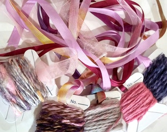 Silk Ribbon Handspun Bundle