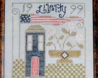 Cross Stitch Pattern | LIBERTY DAYS SAMPLER | Ewe Eye & Friends | Kam Slagel | Barbara Stark | Counted Cross Stitch Pattern