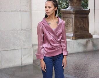 Vintage Layered Blush Blouse M/L