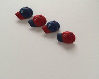 Baseball Hat Buttons - Set of 4