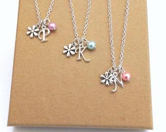 Flower Girl Necklace Sets, Flower Girl Gift, Flower Girl Jewellery, Flower Girl Necklace, Wedding Jewellery, Spring Wedding,  Summer Wedding