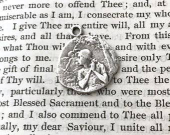 St. Joan of Arc - Religious Medal - STERLING - Catholic Medal - Vintage Replica - Made in the USA