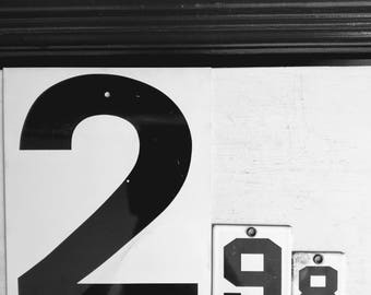 Vintage Number Industrial Decor, Gas Station Metal Number Signs , Double Sided Price Sign One and Two , Wedding Decor, Office Decor