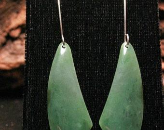 Gem quality Big Sur Jade designer earrings