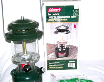 Vintage Coleman Lantern/ Double Mantle/ Coleman/ Model 288A/ Camping Gear/ Gas Lantern/ Survivalist Gear/ NEW in Original BOX/ Unfired/ USA