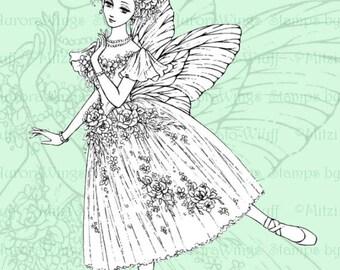 PNG Digital Stamp Instant Download - La Sylphide - Ballet - Marie Taglioni - Ballerina Pointe - Fantasy Line Art for Cards & Crafts