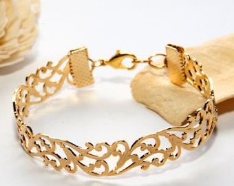 Rose Gold Filigree Bracelet, Rose Gold Bracelet, Cuff Bracelet, Lace Bracelet, Bridal Bracelet, Mom Gift, Wedding Bracelet, Bridesmaid gift