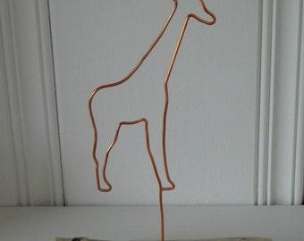 Copper Wire Giraffe Art, Home Decor, Handmade, Copper Art