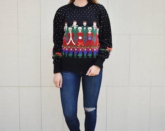 Christmas Carolers Christmas Sweater, Susan Bristol Chorus Not so Ugly Christmas Sweater, Festive Holiday Sweater