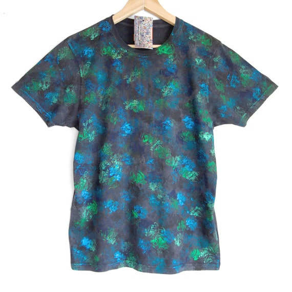 TWILIGHT. Almost Camo. Dark Mens / Unisex Hand Dyed T Shirt. Dark Camo t shirt – Sizes XS to XXL