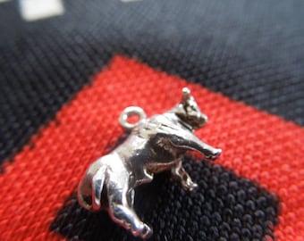 Sterling Bull Charm Vintage Taurus El Toro Bull Charm Sterling Silver Charm for Bracelet from Charmhuntress 04799