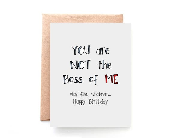Birthday Card Wife Birthday Card for Boss Not The Boss Of – Wife Birthday Cards