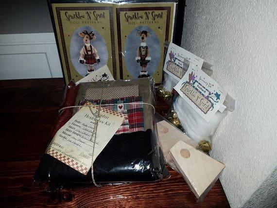 "Doll Kit: ""Heidi & Reinhardt"" SET  for doll patterns by Sparkles n Spirit"