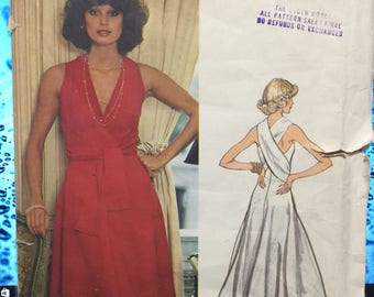 Vogue 1192 / Vintage Couturier Design Sewing Pattern By Belinda Bellville / Wrap Evening Dress / Size 10 (UNCUT FF)