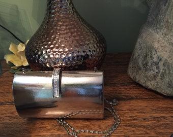 Silver Evening Bag, Silver Clutch, Crossbody Evening Bag