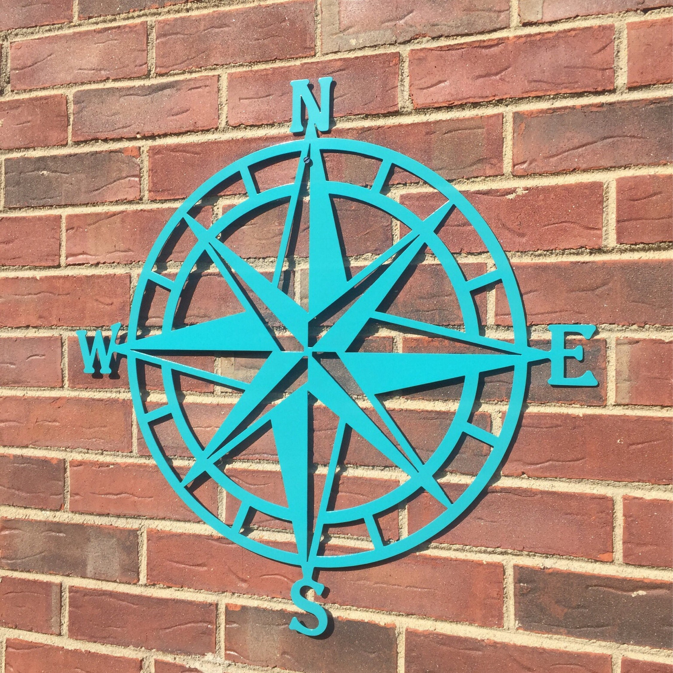 Steel nautical star compass wall art nautical decor metal details compass rose nautical metal wall amipublicfo Gallery