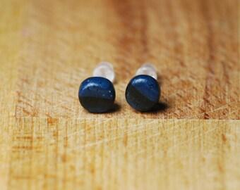 Tiny Space Earrings - Polymer Clay Earrings - Cute Earrings - Teeny Earrings - Hypoallergenic Earrings For Sensitive Ears - Fimo Jewellery -