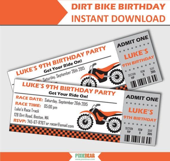 Dirt bike invitation motorcycle birthday invitation motocross il570xn filmwisefo Gallery