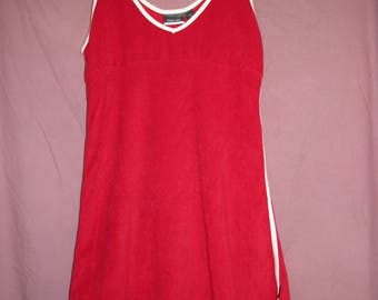 REEBOK tennis dress womens 10 Red/White