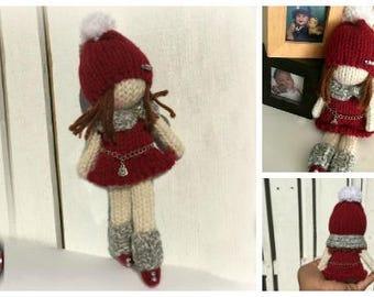 Loom Knitting PATTERNS Doll Toys Amigurumi Tiny Dolls - The Little Fashionista - Includes Video Tutorial by Loomahat