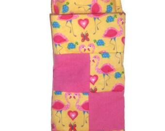 Fashion Doll Flannel Sleeping Bag-Cat Print