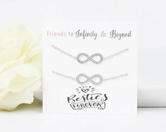 Friendship Bracelet   Best Friend Bracelet   Infinity Bracelet   Infinity Jewelry   Friend Gift   BFF gift   Best Friend Jewelry   Infinity