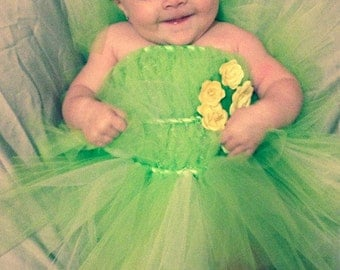 Tinkerbell Tutu, Tinkerbell Costume, Tinkerbell Birthday, Halloween Costume, Fairy Costume, Tutu, baby girl halloweeen, toddler halloween